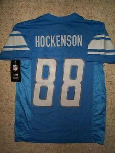 *IRREGULAR* Detroit Lions TJ HOCKENSON nfl Jersey YOUTH KIDS BOYS (s-sm-small)
