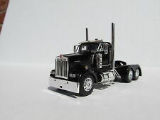 DCP 1/64 SCALE W-900 KENWORTH DAY CAB BLACK - TRACTOR ONLY