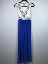 Flying Tomato Anthropologie Small Royal Blue Sleeveless Boho Maxi Dress