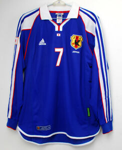 2001 JAPAN Home shirt L/S No.7 NAKATA Player Issue Equipment Confederation Cup