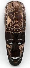 Masque ethnique Bouddha Bouddhisme en bois déco zen asiatique 32 cm