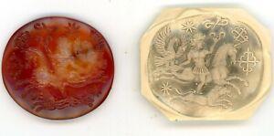 Very Large Roman Carnelian  Intaglio Signet Seal