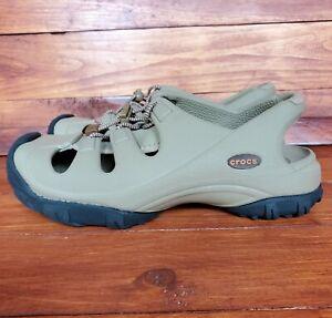 Crocs Trailbreak Closed Toe Hiking Sandals Water Shoes Tan Mens 6 Womens 8