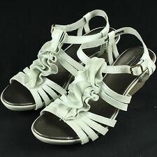 Clarks Lucia Resort Wedge Sandals 10 Heels Shoes Comfortable 10M 2 Inch Sandles