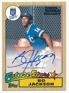 BO JACKSON 2018 TOPPS ARCHIVES ROOKIE HISTORY ON CARD AUTOGRAPH SP AUTO #66/99