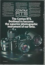 1976 CONTAX Camera advertisement for CONTAX RTS 35mm SLR camera, Yashica ad