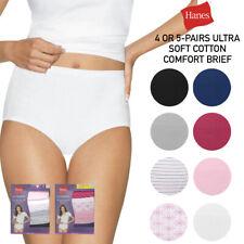Hanes Feminino 4 ou 5 Pack Conforto definitivo de algodão de alta ascensão Cuecas cobertura total