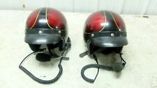 matching motorcycle helmets with built in intercom microphone headset
