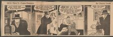VINTAGE NEWSPAPER COMIC STRIP - DICK TRACY - UNDER PRESSURE PROVIDENCE, RI 1937