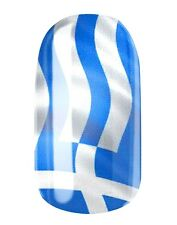 NAGELFOLIEN NAIL WRAPS by GLAMSTRIPES - GRIECHENLAND / GREECE FLAGGE 0452