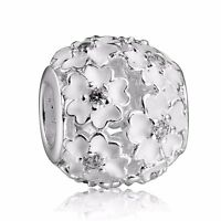 Charms Twins Zirconia Pendant Bead Fit 925 Silver Sterling Bracelets Necklace
