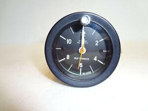 Fiat 124 Spider Veglia Borleti Electronic Clock Black Ring Original OEM New Lens