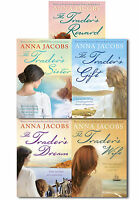 Anna Jacobs The Trader Series 5 Books Collection Set Traders Gift, Wife, Reward