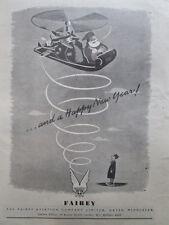 12/1946 PUB FAIREY AVIATION PERE NOEL SANTA KLAUS CHRISTMAS ORIGINAL AD