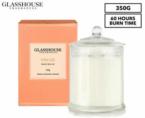 Glasshouse Triple Scented Candle 350g - Venice (350g) - 60hr Burn Time Free Post