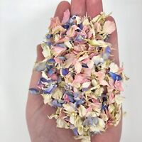 Biodegradable WEDDING CONFETTI Delphinium Real Dry Petals Flutterfall 7 handfuls