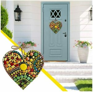 Large Garden Mosaic Heart Romantic Retro Outdoor Garden Front Door Art Ornament