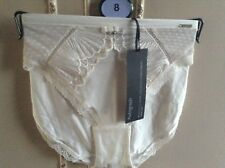 Autograph Ivory Swiss Designed Embroidery High Leg Knickers briefs size 8