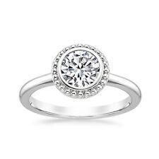 Diamond Solitaire Ring Size 7 5 6 14k White Gold Finish 1.00 Ct Moissanite