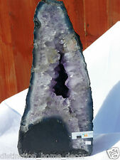 C13) Purple Amethyst Crystal Church Chapel Geode Rock Gift Home Office Decor