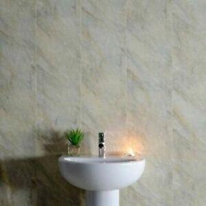 Pergamon marble 5mm Bathroom PVC Cladding Plastic Shower Wall Panels wet wall