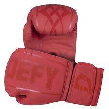 DEFY® Synthetic Leather Boxing Glove Thai Punch Training Sparring Gloves Red