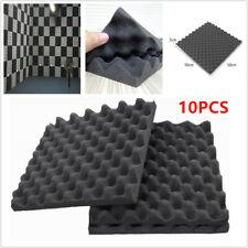 10x KTV Acoustic Foam Egg Studio Sound insulation Treatment Absorption 50X50X3cm