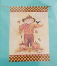 "Scarecrow Theme ~ 28"" X 40"" Porch Flag ~ Rain or Shine ~ Seasonal Fall Art Flag"