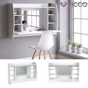 VICCO Mesa de maquillaje de pared MAX Tocador de mesa Belleza de mesa blanco
