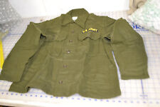 wool shirt size medium field nylon OG 108 date 1956 US ARMY yellow patch vietmam