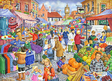 The House Of Puzzles - 250 BIG PIECE JIGSAW PUZZLE - Market Day Big Pieces