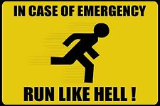 """Funny Warning Emergency Sign Photo Fridge Magnet 2""""x3"""" Collectibles"""