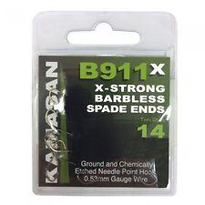 Kamasan B911x X-strong Barrbless Spade Ends Fishing Hooks 10 - P177