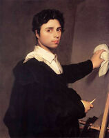 Art Oil painting male portrait copy-after-ingress-1804-self-portrait canvas