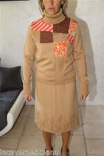luxueuse jupe viscose soie BAZAR CHRISTIAN LACROIX taille 38 ensemble possible