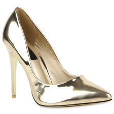 Spitze Damen Pumps High Heels Lack Stilettos 76801 Schuhe