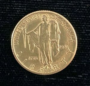1926 $2.50 Sesquicentennial Commemorative Gold Coin - Weights 4.2 grams