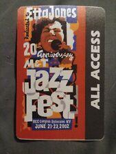 M&T Jazz Fest Dedicated to Etta Jones 2002 All Access Pass Syracuse Ny