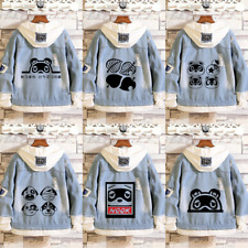 Animal crossing Hoodie Denim Jacket Coat Sweatshirt Hooded Cosplay Costume