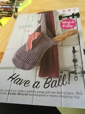 Quick & Easy Shopping Bag - One Ball Of Aran Required