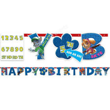 PAW PATROL ADD AN AGE JUMBO LETTER BANNER KIT BIRTHDAY PARTY SUPPLY 3.2M X25.4cm