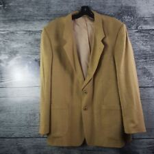 Men's Flax/Lin Blend sz 37 Suit Formal Blazer Made in Canada Brown