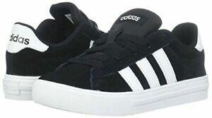 Unisex Kids adidas NEO Daily 2.0 K DB0639 100% Sneaker Core Black/White New