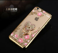 Luxury Diamond Flower Ultra-thin Clear Hard Back Case Cover for New Apple iPhone