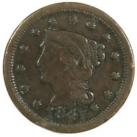 1847 United States Braided Hair Large Cent - VG