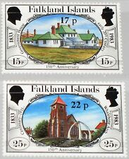 FALKLAND ISLANDS 1984 405-06 402-03 Definitives ovp Buildings Gebäude MNH
