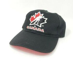 Team Canada Hockey Strapback Dad Hat Cap Hook & Loop Sogo Sports