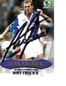 ALAN SHEARER BLACKBURN ROVERS SIGNED TOPPS 2003 ALL TIME HAT TRICKS RECORD CARD