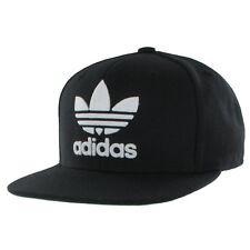 Black White Adidas Original Snapback Cap Trefoil Logo Adjustable Free Postage