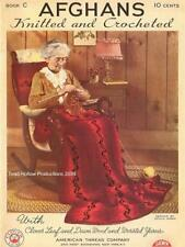 1940s Afghans Knitted and Crocheted Book C on CD